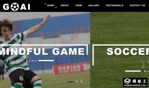 足球运动管理响应式网页模板