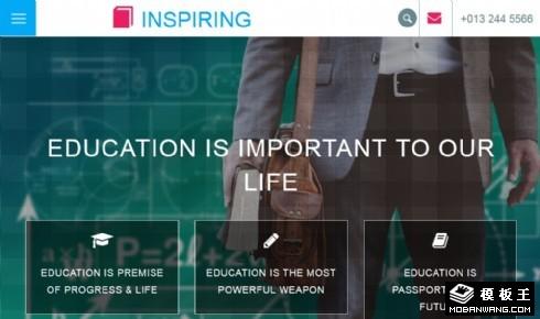 儿童兴趣养成教育响应式网页模板