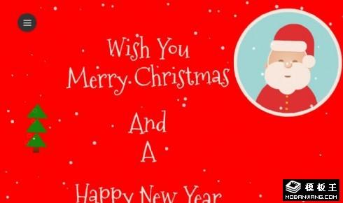 圣诞新年主题展示响应式网页模板