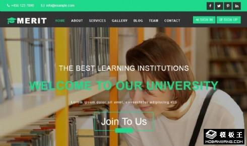 优秀学习成果展示响应式网页模板