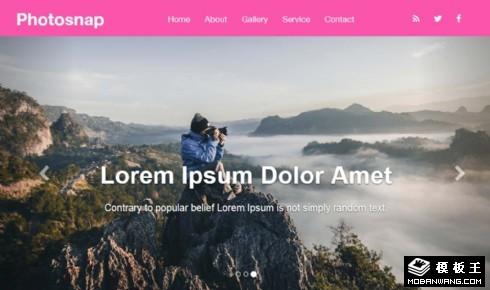 照片捕捉摄影服务响应式网页模板