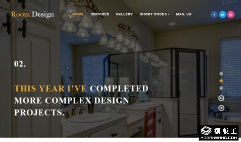 室内设计师作品介绍响应式网站模板