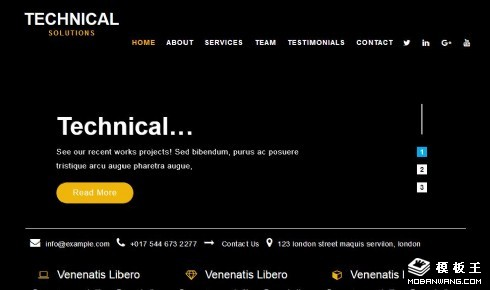 技术解决方案响应式网页模板