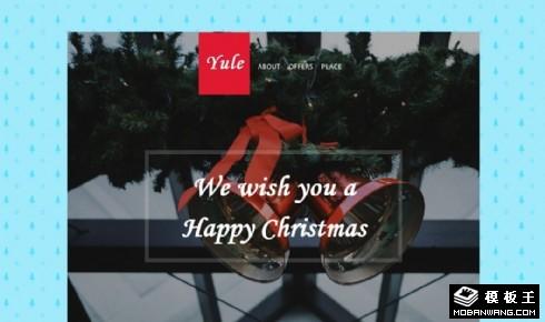 圣诞季礼物产品响应式网页模板