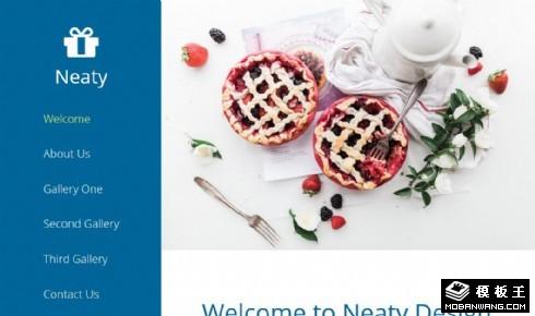 甜品介绍展示响应式网页模板