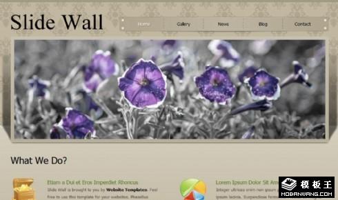 服务形象展示介绍网页模板