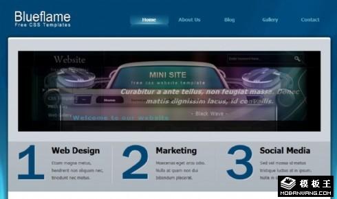 蓝色项目服务动态网页模板