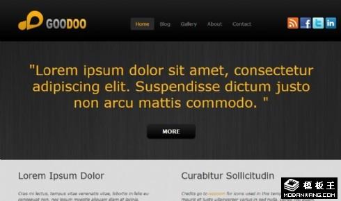 灰黑技术服务展示网页模板