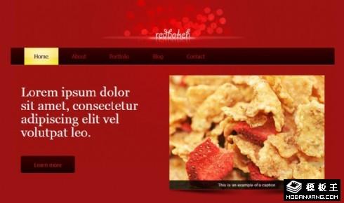 红色信息展示网页模板