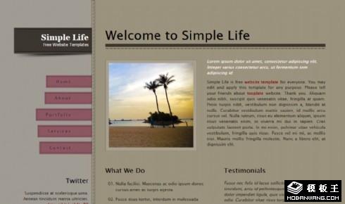 简单二列信息动态网页模板