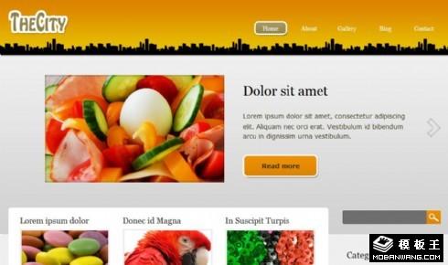 城市产品动态展示网页模板