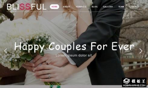 幸福婚礼服务展示响应式网页模板