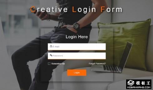 创意休闲登录框响应式网页模板