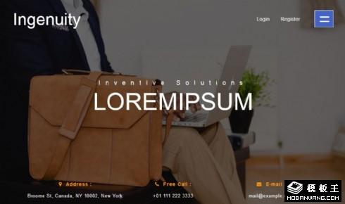 创意制作设计团队响应式网页模板