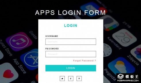 APP登录框响应式网页模板