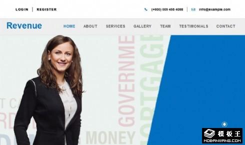 金融服务产品展示响应式网页模板