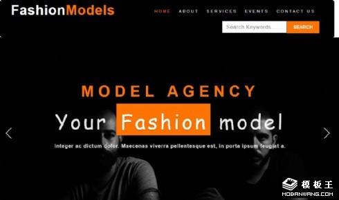 时装模特经纪公司响应式网页模板
