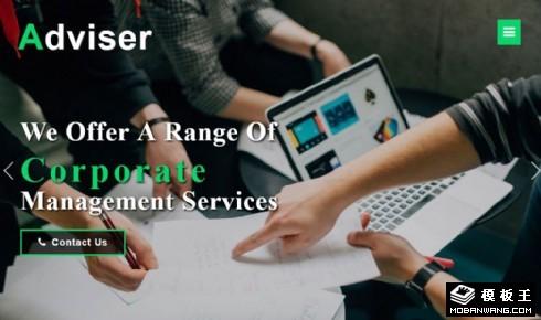 企业商务顾问响应式网页模板