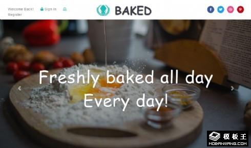 烘焙餐点美食响应式网页模板