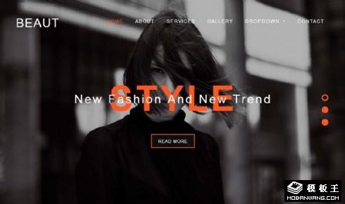 时尚模特展示动态响应式网页模板