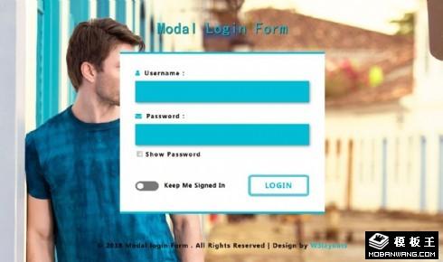 用户模型登录框网页模板