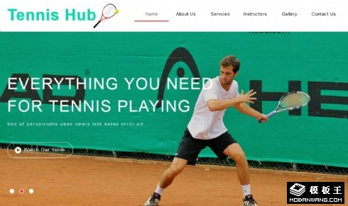 网球训练中心响应式网页模板