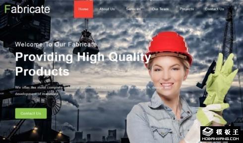 制造装配工业响应式网页模板