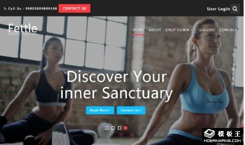 在线瑜伽APP动态展示网页模板