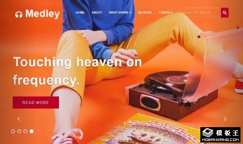 混音音乐制作响应式网页模板