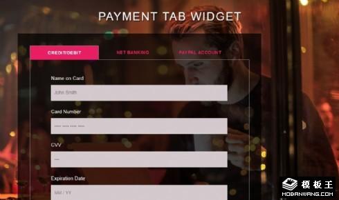 支付信息选项卡组件网页模板