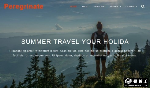 旅行游历顾问响应式网页模板