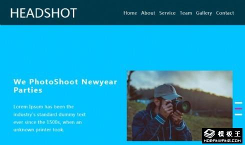 摄影俱乐部介绍响应式网页模板