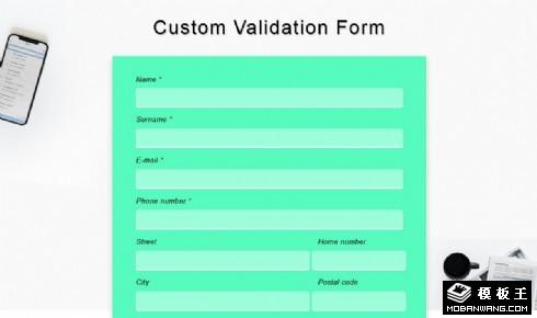 信息验证登记表单响应式网页模板