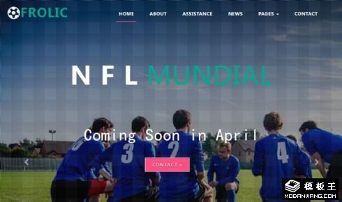 橄榄球狂欢响应式网页模板