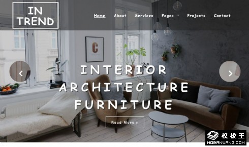室内家具创意设计响应式网站模板
