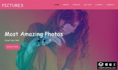 摄影展览项目展示响应式网站模板