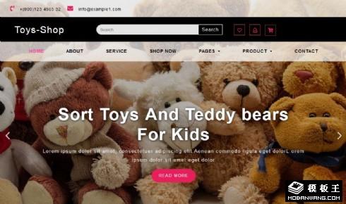 毛绒玩具展示商城响应式网站模板