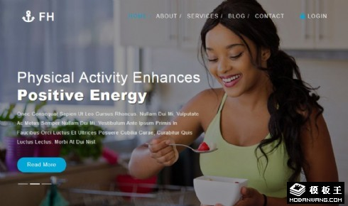 有氧健身展示响应式网站模板