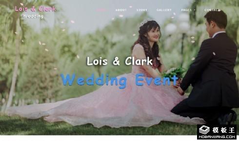 婚礼故事策划响应式网站模板