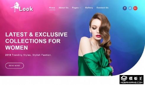 时尚秀模特公司响应式网站模板