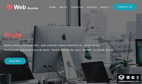 网络技术服务响应式网页模板