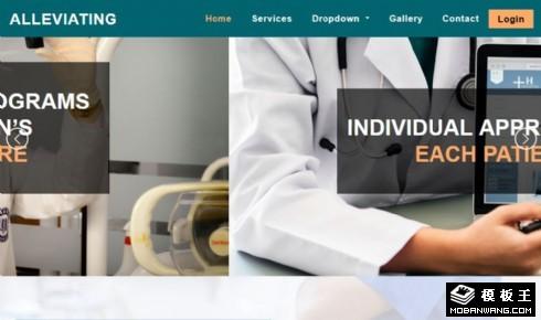 医学治疗介绍服务响应式网站模板