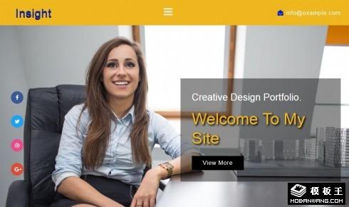 洞察力企业服务响应式网站模板