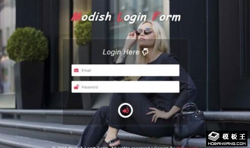 流行时尚登录框网页模板
