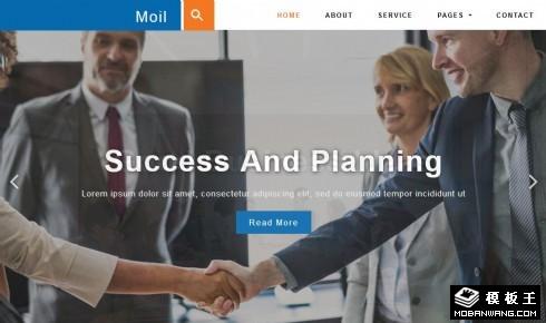 企业案例动态展示自适应网站模板