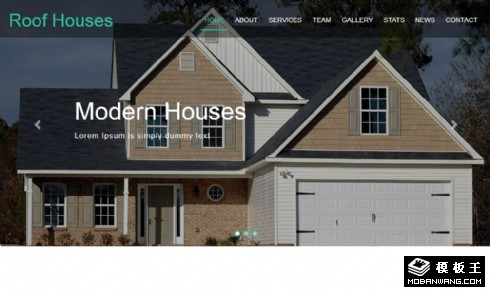 现代屋顶房项目动态响应式网页模板