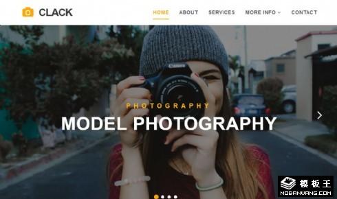 摄影服务技术展示响应式网站模板