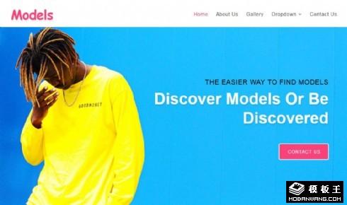 模特公司展示响应式网页模板
