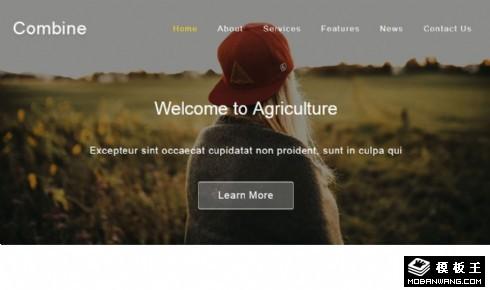 农业合作产品响应式网页模板