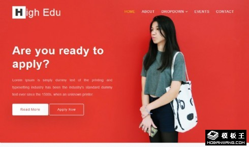 高等教育动态展示响应式网页模板